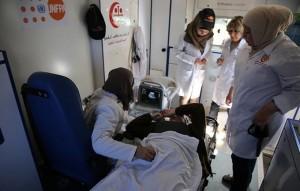 فريق طبي متنقل يعمل بدعم من صندوق الأمم المتحدة للسكان