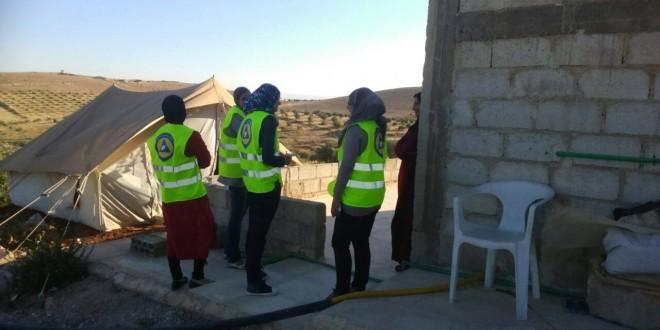 المرأة تنخرط في صفوف الدفاع المدني السوري