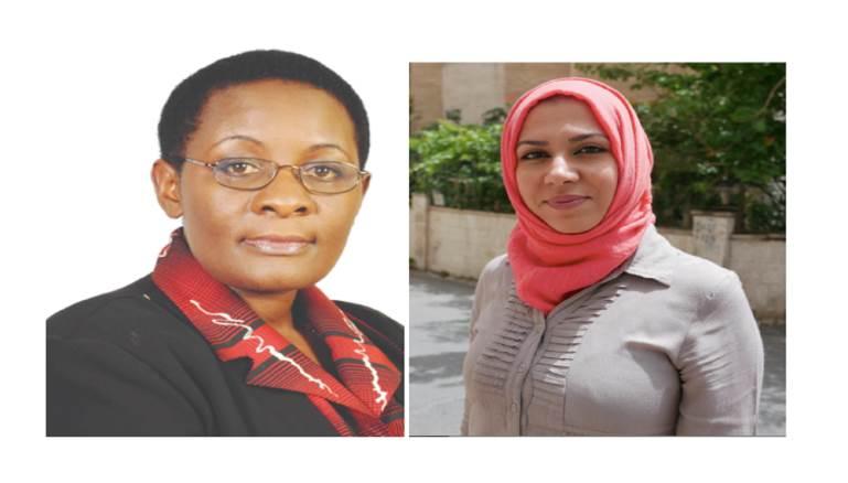 الصحافية السورية نورا الحوراني & الصحافية الأوغندية باربرا كيجا