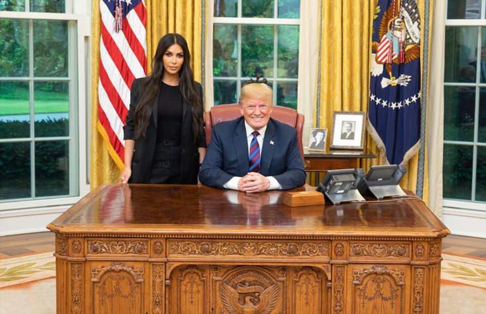 كيم كارداشيان تزور دونالد ترامب