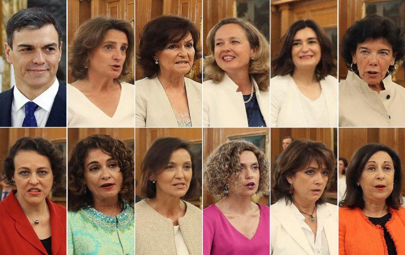 11 وزيرة في حكومة سانشيز الاسبانية