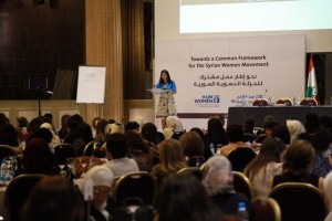 Syrian women attending the Beirut II Conference. Photo: UN Women