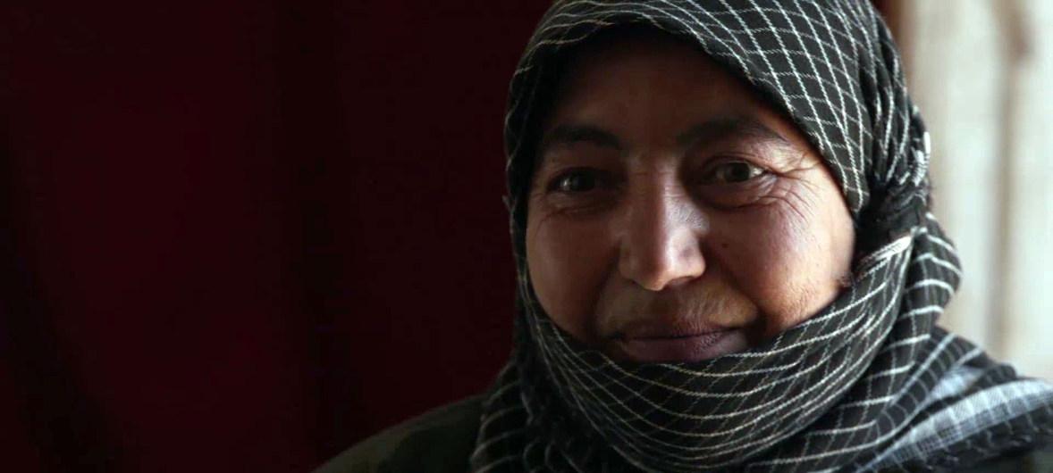 علياء، لاجئة سورية تبلغ من العمر 50 عاماً