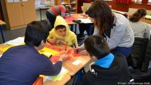 دمج الطفال اللاجئين في المدارس الألمانية