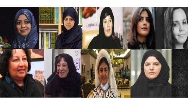 تسع معتقلات رأي وناشطات في مجال حقوق المرأة في السعودية