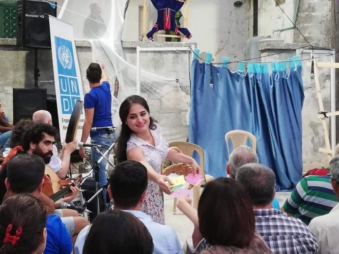 المسرح التفاعلي في اللاذقية/ UNDP