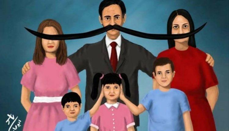 كاريكاتور تعبيري عن وضع المرأة للفنان ياسر أبو حامد-الحياة برس