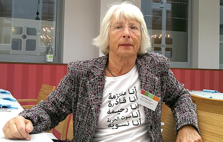 هايدي ميانسولت؛ عضوة رابطة النساء الدولية للسلام والحرية WILPF