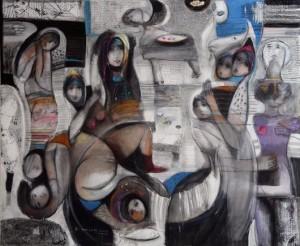 لوحة للفنان التشكيلي زهير حسيب