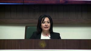 النائبة فالا فريد، رئيسة لبرلمان كردستان العراق