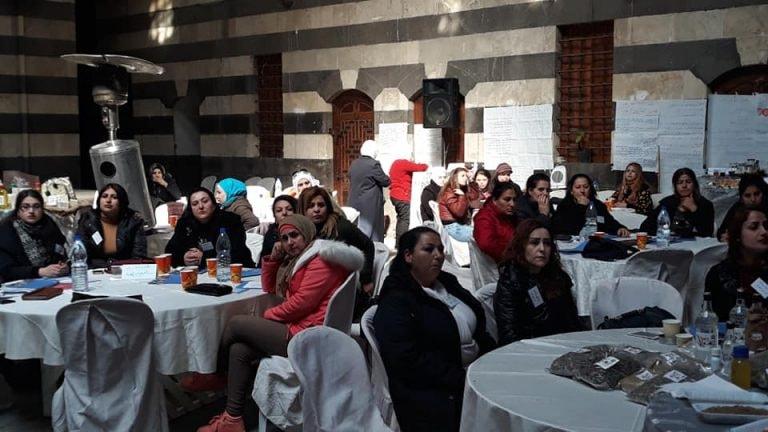 جانب من الورشة التي جرت في خان أسعد باشا في دمشق