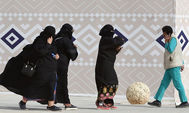 Thanks to the Absher app, Saudi men can keep tracks on their wives and female workers. Photograph: Fayez Nureldine/AFP/Getty Images