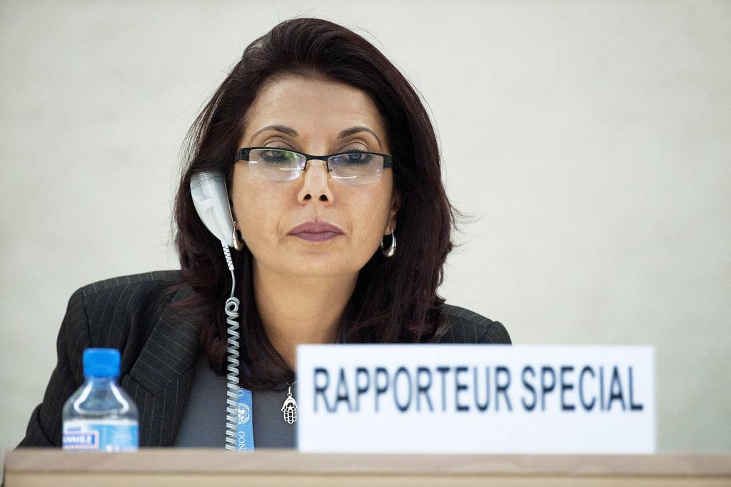 UN Photo / نجاة مجيد - المقررة الخاصة المعنية ببيع الأطفال وبغاء الأطفال واستغلال الأطفال في المواد الإباحية. 8 مارس/آذار 2012.