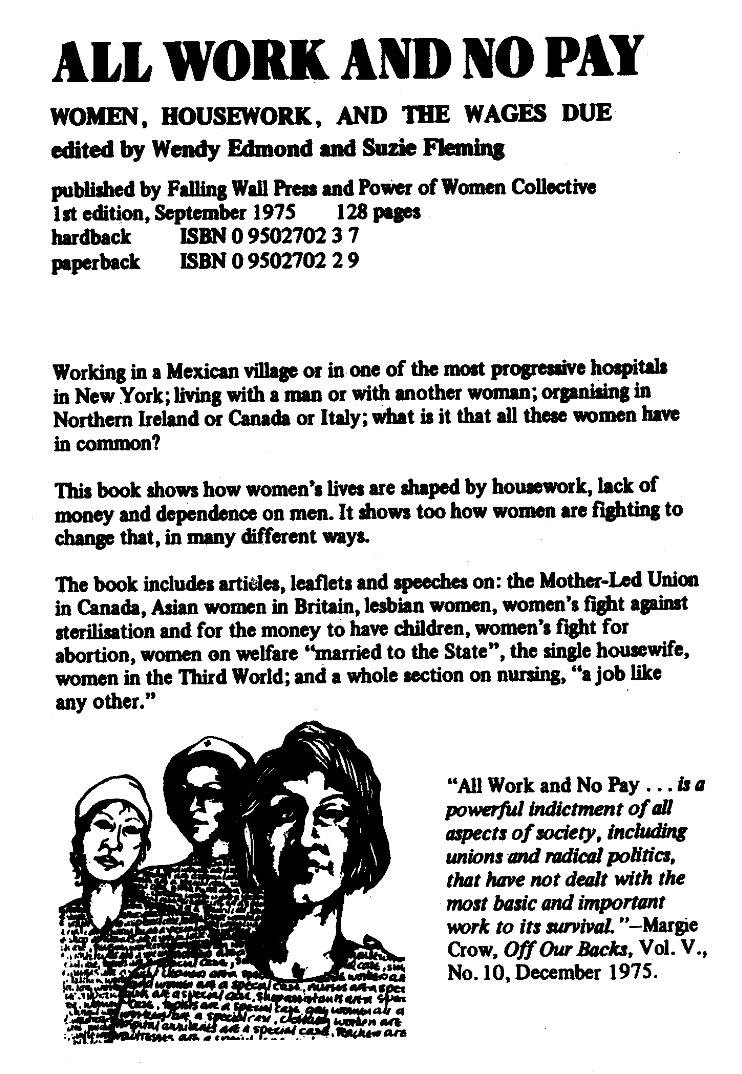 منشورات Power of Women Collective and Falling Wall Press, 1975