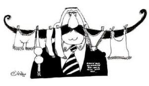 كاريكاتير للفنان السوري علي فرزات