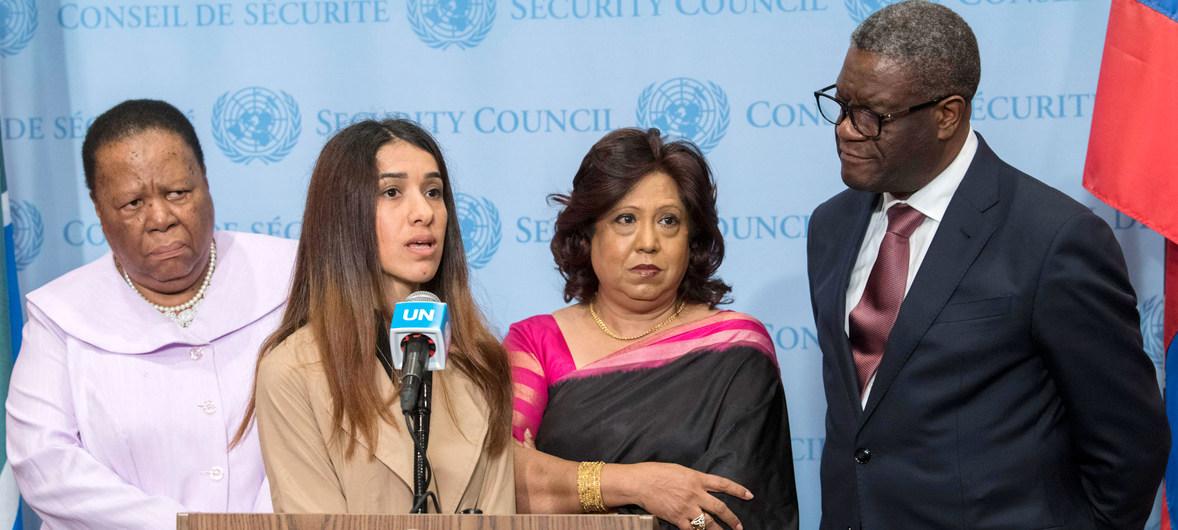 مؤتمر صحفي للإعلان عن إنشاء صندوق عالمي للناجيات والناجين من العنف الجنسي المرتبط بالنزاعات