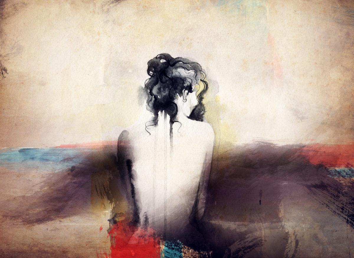 المرأة المهمشة\ تشكيل فني