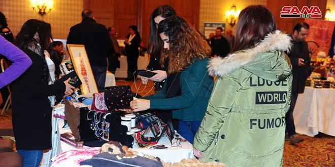 بازار خيري أقامه اليوم صندوق الأمم المتحدة للسكان في دمشق