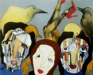 لا بد من وعي نسوي جديد (لوحة للفنانة هيلدا حياري)