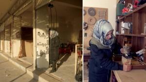 فاجأت بتول أحمد الجميع بعملها نجّارة بدلاً من المهن النسائية (الشرق الأوسط)