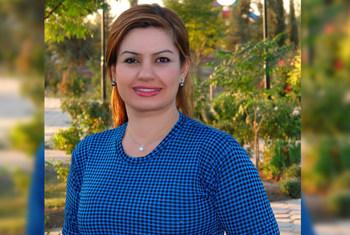 جميلة مهدي، مسؤولة حقوق الإنسان في بعثة الأمم المتحدة لمساعدة العراق (يونامي) في أربيل بكردستان العراق