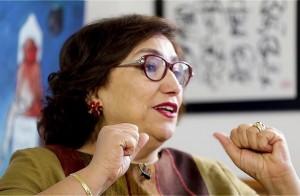 بشرى بلحاج حميدة: لا أرفض الاستفادة من الموروث الثقافي الإسلامي ومن نقاطه المضيئة (أنترنت)