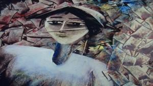 لوحة للتشكيلي محمد نصرالله