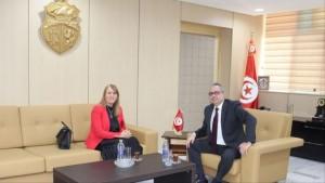 ثريا الجريبي أول سيدة تترأس وزارة سيادية في تاريخ تونس (مواقع التواصل)