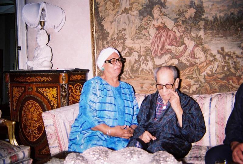 عطية الله & زوجها نجيب محفوظ