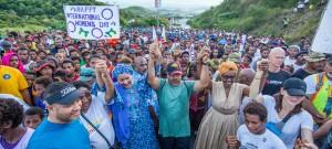 أمينة محمد في مسيرة اليوم العالمي للمرأة 2020 في بابوا غينيا الجديدة