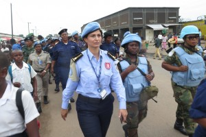 سونيا المالكي، وهي ضابطة حفظ سلام تونسية، قائدة فصيل بشرطة الأمم المتحدة في كانانغا بجمهورية الكونغو الديمقراطية.