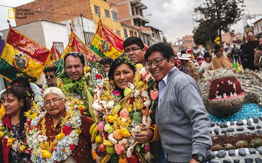 """ماريا باتريسيا آرسي غوزمان بعيد انتخابها """"عمدة"""" مدينة فينتو -التابعة لمقاطعة كوتشابامبا- بوليفيا"""