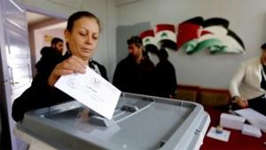 النساء والانتخابات في سوريا