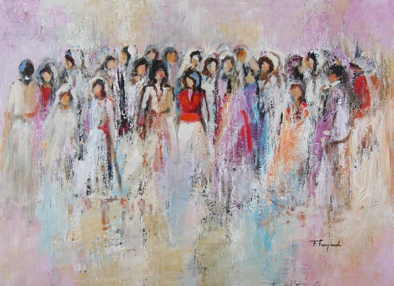 لوحة للفنانة فريال فياض
