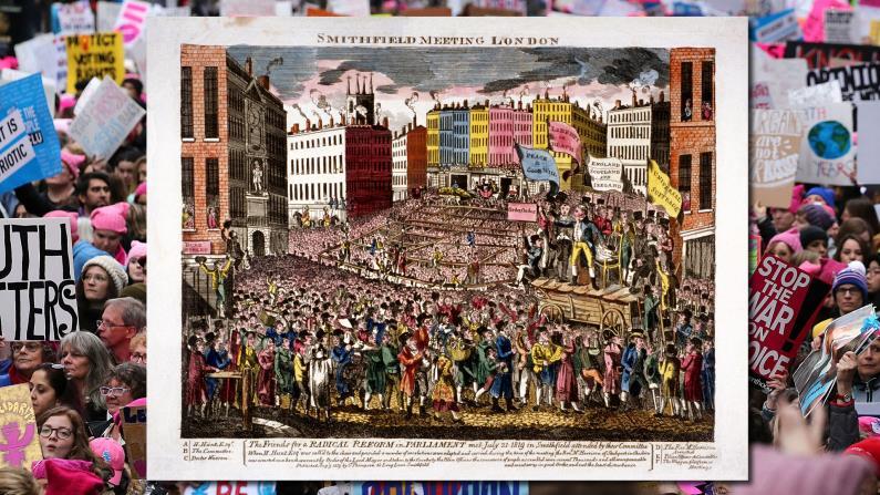 مسيرتان للمطالبة بحقوق المرأة: لندن 1819 ونيويورك 2019