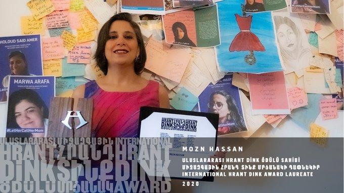 حصول مزن حسن على جائزة هرانت دينك لعام 2020!