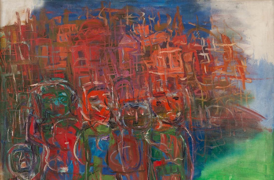اللوحة للفنانة جاذبية سري/مصدر الصورة: ميديوم