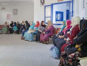 نساء تونسيات في مركز لتنظيم الأسرة. © صندوق الأمم المتحدة للسكان تونس