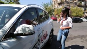 كنانة البني سائقة سيارة أجرة سورية
