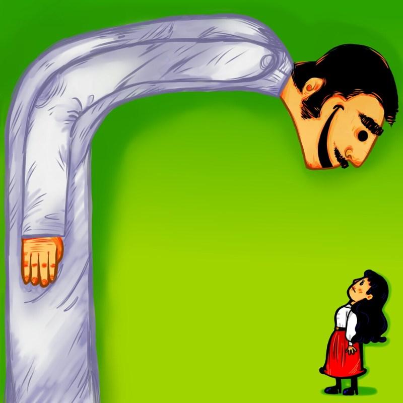 مفهوم «الفسرجة»أو ال«mansplaining»/ رسم: شيماء العلوي