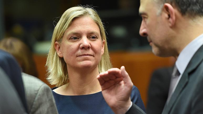 وزيرة المالية السويدية ماجدالينا أندرسون/ أ ف ب