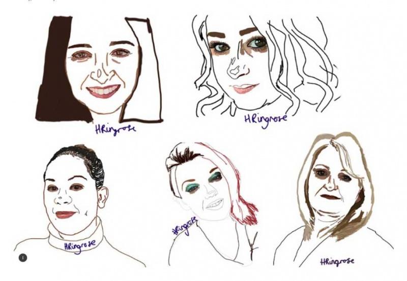 رسومات تهدف إلى زيادة الوعي بخطر العنف المنزلي المتزايد أثناء الوباء