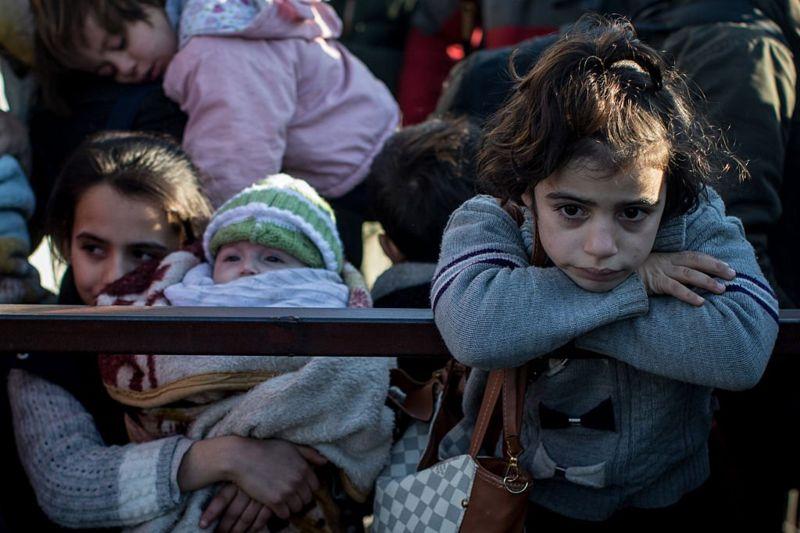 أطفال نازحون من حلب في 2018/CHRIS MCGRATH/GETTY IMAGES