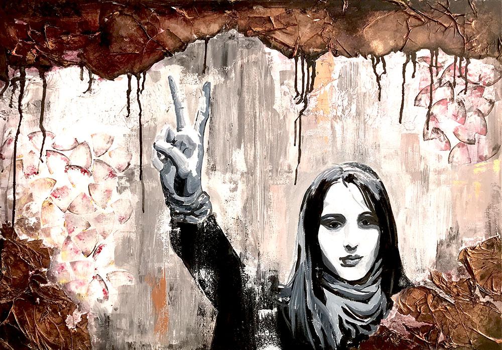 لوحة للفنانة أماني الحجيري