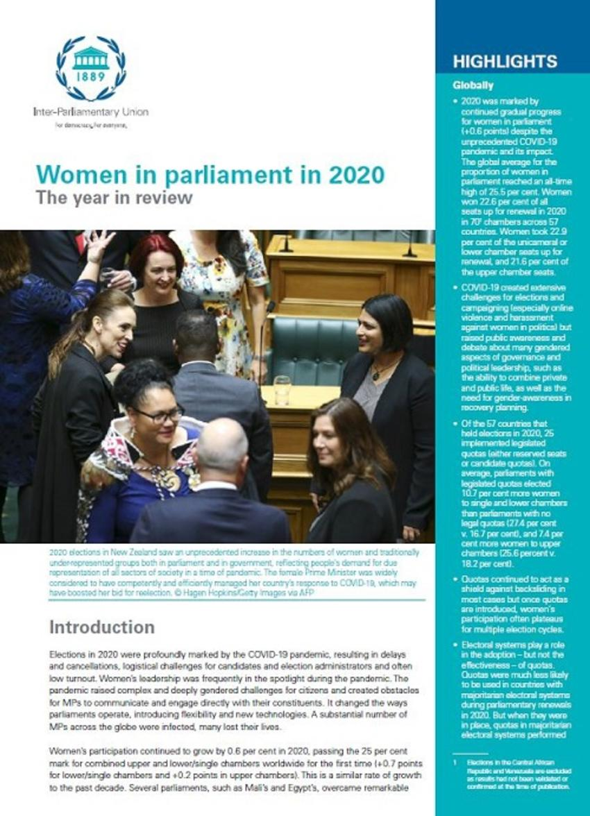 Women in Parliament in 2020