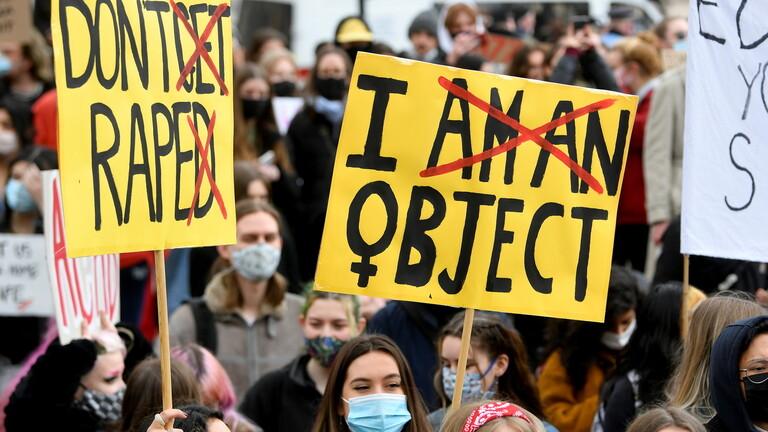 مظاهرة نسائية في لندن/ رويترز