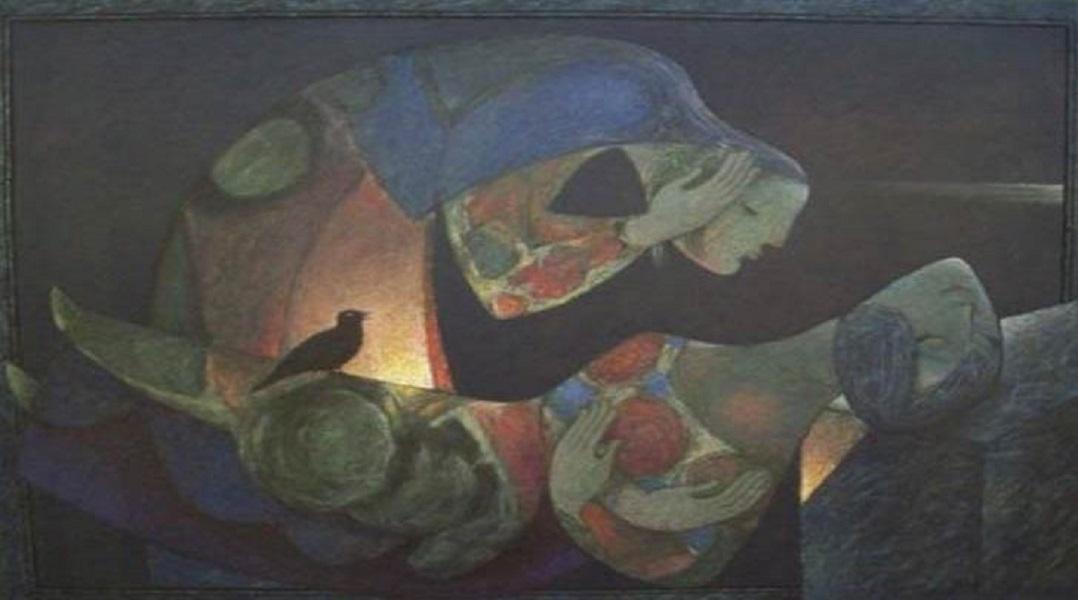 اللوحة للفنان خزيمة علواني/مصدر الصورة:شبكة المرأة السورية