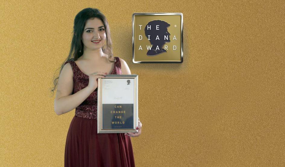 """حصلت الشابة السورية """"رودي علي"""" على جائزة الأميرة ديانا 2021 المرموقة للعمل الاجتماعي والجهود الإنسانية والتطوعية"""
